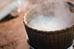 Traditional bamboo steamed rice royalty free stock images