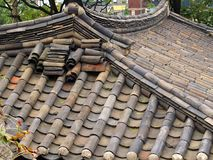 Traditional Bamboo Style Ceramic Roof Tiles, Seoul Stock Photography