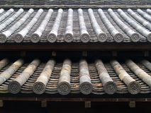 Traditional Bamboo Style Tiled Roof, Tokyo Royalty Free Stock Photos