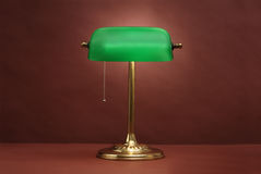 Traditional Banker's Lamp Royalty Free Stock Photo