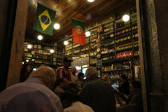 Traditional Bar founded by Portuguese is part of Carioca culture Royalty Free Stock Photography