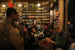 Traditional Bar founded by Portuguese is part of Carioca culture Stock Photo