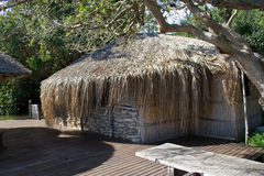 Traditional bar at lakeside in Mozambique. Royalty Free Stock Image