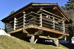 Traditional Barn in Carinthia, Austria Royalty Free Stock Images