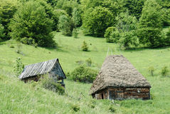Traditional barn in rural Transylvania Royalty Free Stock Photo