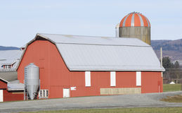 Traditional Barn and Silo Royalty Free Stock Photo