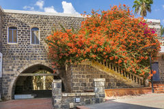 Traditional basalt building with arche Stock Images