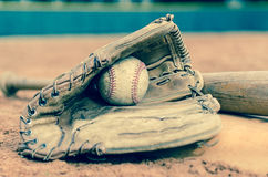 Traditional Baseball Stock Image