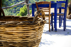 Traditional basket Stock Photography