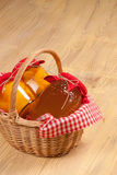 Traditional basket Royalty Free Stock Images