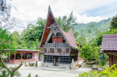 Traditional Batak House in Lake Toba, Sumatra Indonesia Stock Photos
