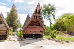 Traditional Batak House in Lake Toba, Sumatra Indonesia Stock Photography
