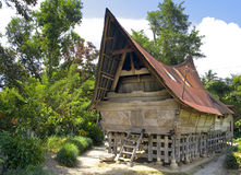 Traditional Batak House On The Samosir Island Stock Photo