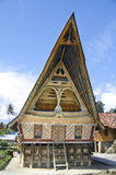 Traditional Batak house on the Samosir island. Stock Photo