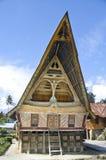 Traditional Batak house on the Samosir island. Stock Photo