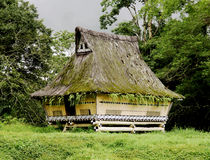 Traditional Batak house in Sumatra Royalty Free Stock Photos