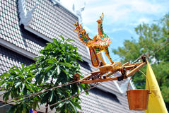 Traditional bathing relics Haripuncha. Traditional bathing relics with wood-carving bird Stock Image