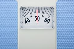Traditional bathroom scales Royalty Free Stock Photography