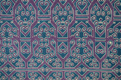 Traditional Batik Sarong Pattern Stock Photo
