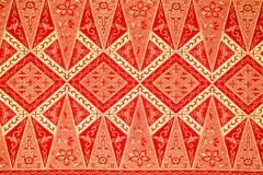 Traditional Batik Sarong Pattern Royalty Free Stock Photography