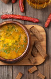 Traditional bavarian beer soup with sausage Royalty Free Stock Photo