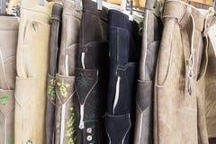 Traditional Bavarian buckskin pants Royalty Free Stock Photos