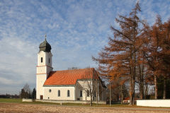 Traditional bavarian church in autumn Royalty Free Stock Photo