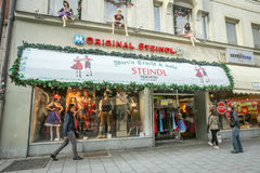 Traditional bavarian clothing store Royalty Free Stock Photos
