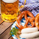 Traditional bavarian food Royalty Free Stock Photos