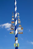 Traditional Bavarian Maypole Royalty Free Stock Image