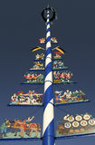 Traditional Bavarian Maypole Stock Photos