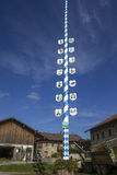Traditional Bavarian Maypole, Germany Royalty Free Stock Images