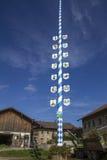 Traditional Bavarian Maypole, Germany Royalty Free Stock Images