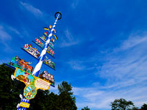Traditional Bavarian maypole, Germany Royalty Free Stock Photo