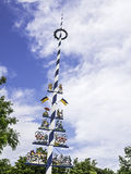 Traditional bavarian maypole Royalty Free Stock Photography