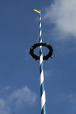 Traditional bavarian maypole Stock Image