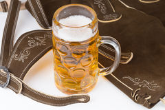 Traditional Bavarian pants deerskin Royalty Free Stock Image
