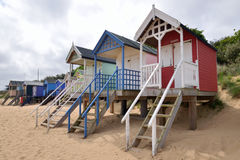Traditional Beach Huts Stock Photography