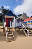 Traditional Beach Huts Royalty Free Stock Photo