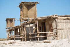Traditional Beachhut at Jebel Ali Wildlife Sanctuary. Traditional Emirati Beachhut made from local materials, Jebel Ali Wildlife Sactuary Royalty Free Stock Photography
