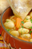 Traditional bean soup. Bean soup in a traditional cup Royalty Free Stock Photography