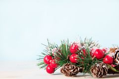 Traditional beautiful Christmas wreath decoration for the new year for the holiday royalty free stock photography