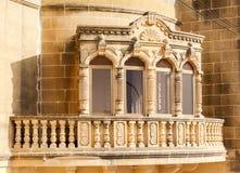 Traditional beautiful decorative balcony close-up Stock Image