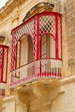 Traditional beautiful decorative balcony close-up Stock Photos