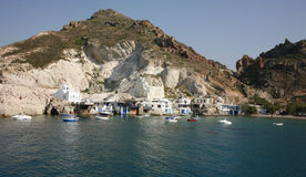 Traditional beautiful fishing village on island Royalty Free Stock Image