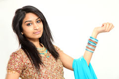 Traditional Beautiful Indian Woman Royalty Free Stock Images