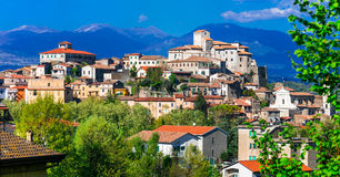 Traditional beautiful village borgo of Italy - medieval Ceccan Royalty Free Stock Photography