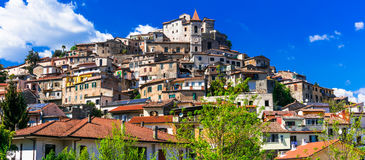 Traditional beautiful villages of Italy - medieval Ceccano in La Stock Photos