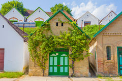 Traditional beauty. A beautiful entrance to a traditional vineyard, winery and cellar in Villany, Baranya county, Hungary Royalty Free Stock Image