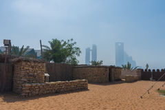 Traditional bedouin stone house at heritage village. Abu Dhabi, UAE Royalty Free Stock Photography